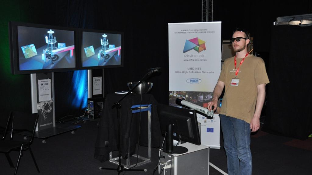 Transmisja strumieniowa live UHDTV 3D 60p na odległość 2 tys. km