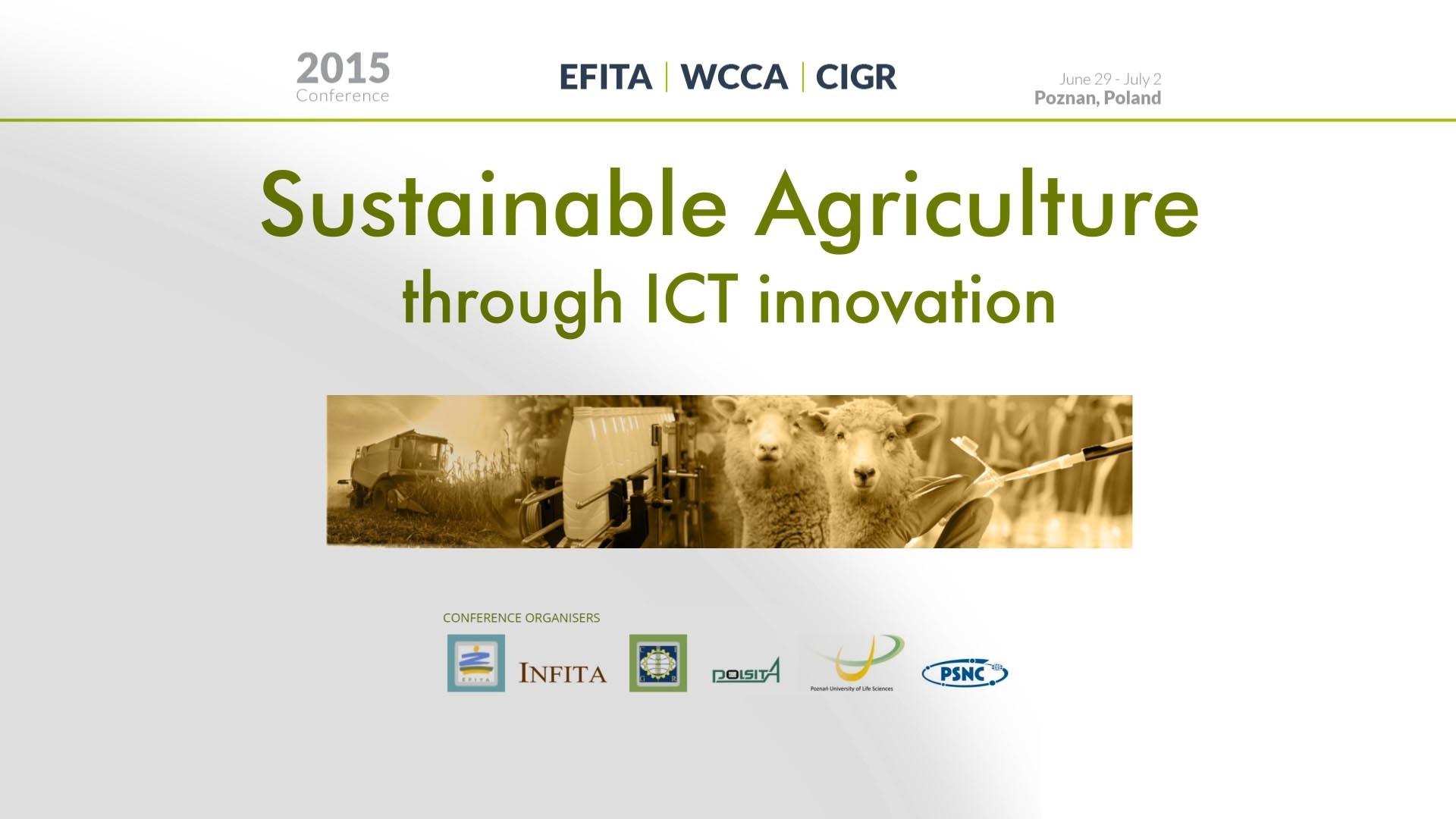 Wideo: Materiały z Konferencji EFITA 2015