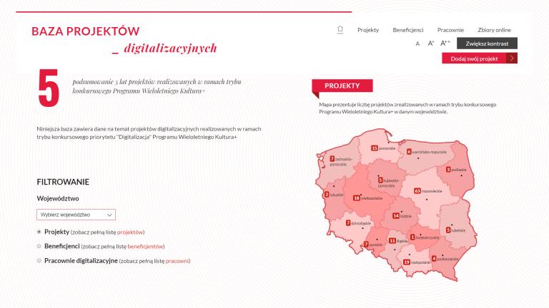 Powstała Baza Projektów Digitalizacyjnych