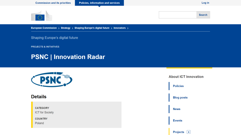 Zespół Europeana Cloud PCSS walczy w konkursie Innovation Radar