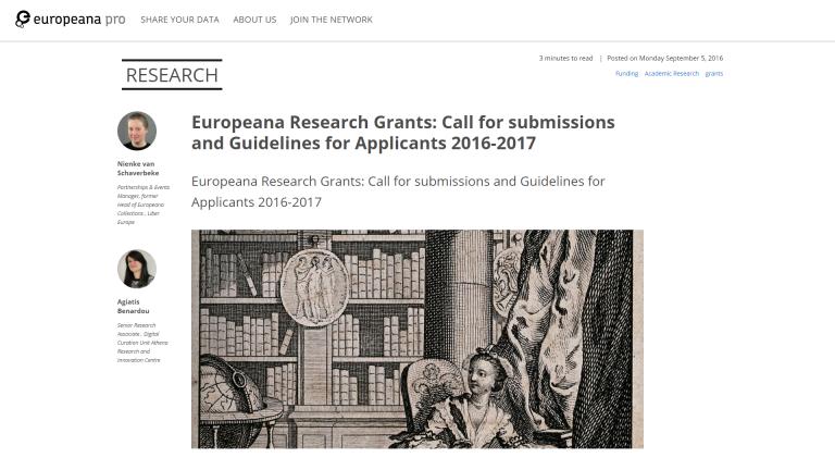 Granty z Europeany dla młodych badaczy