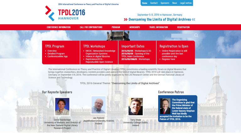 Conference4me na TPDL2016