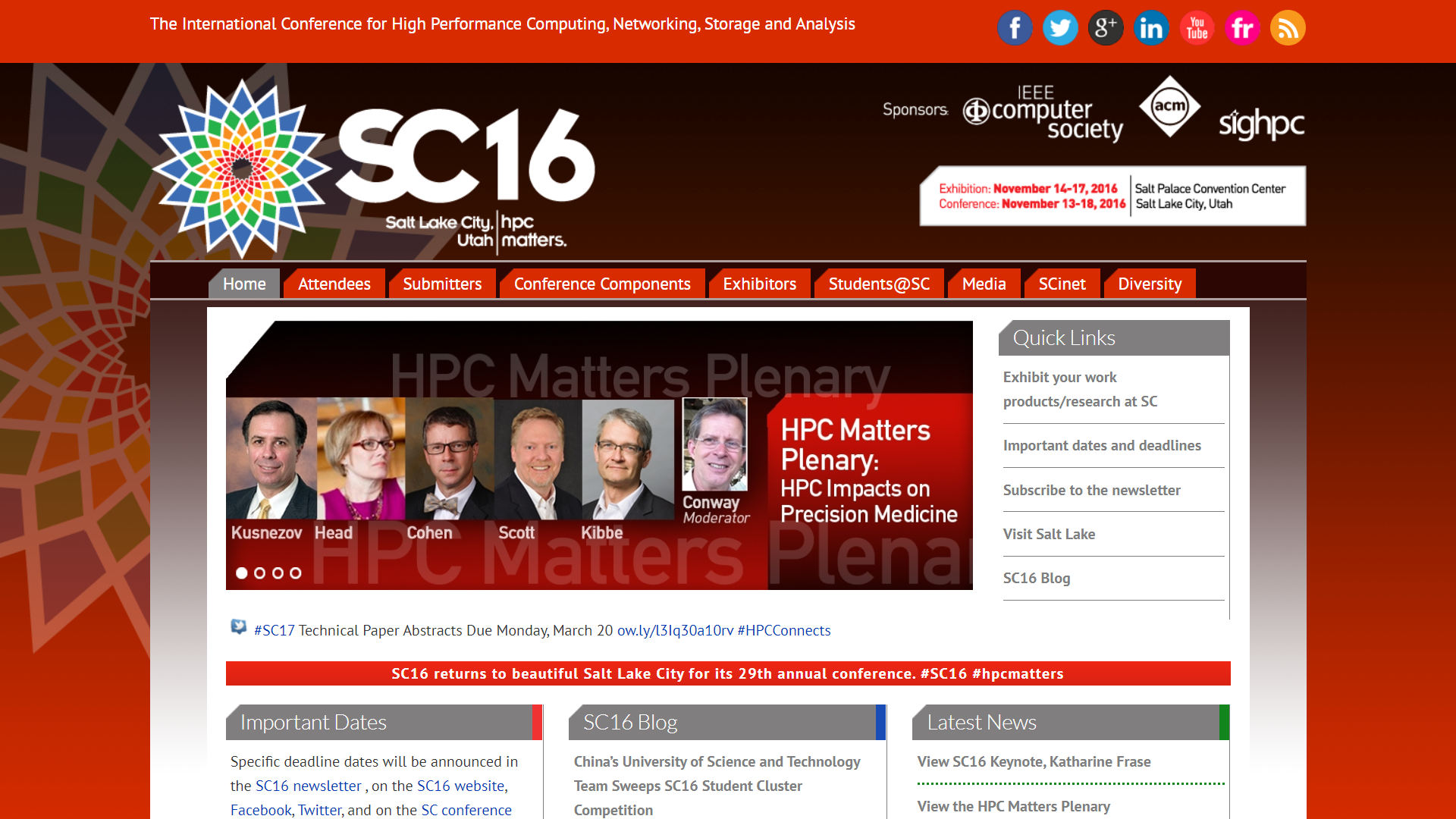 SC16: HPC metters