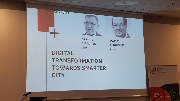 Fotorelacja: prezentacja dr inż. Cezarego Mazurka na Forum Rozwoju Miast 2019