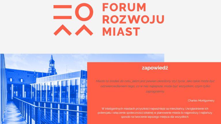 PCSS partnerem Forum Rozwoju Miast 2019