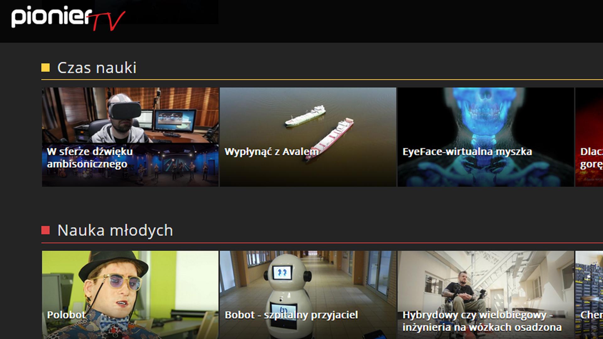 PIONIER.TV – nowy portal telewizji naukowej