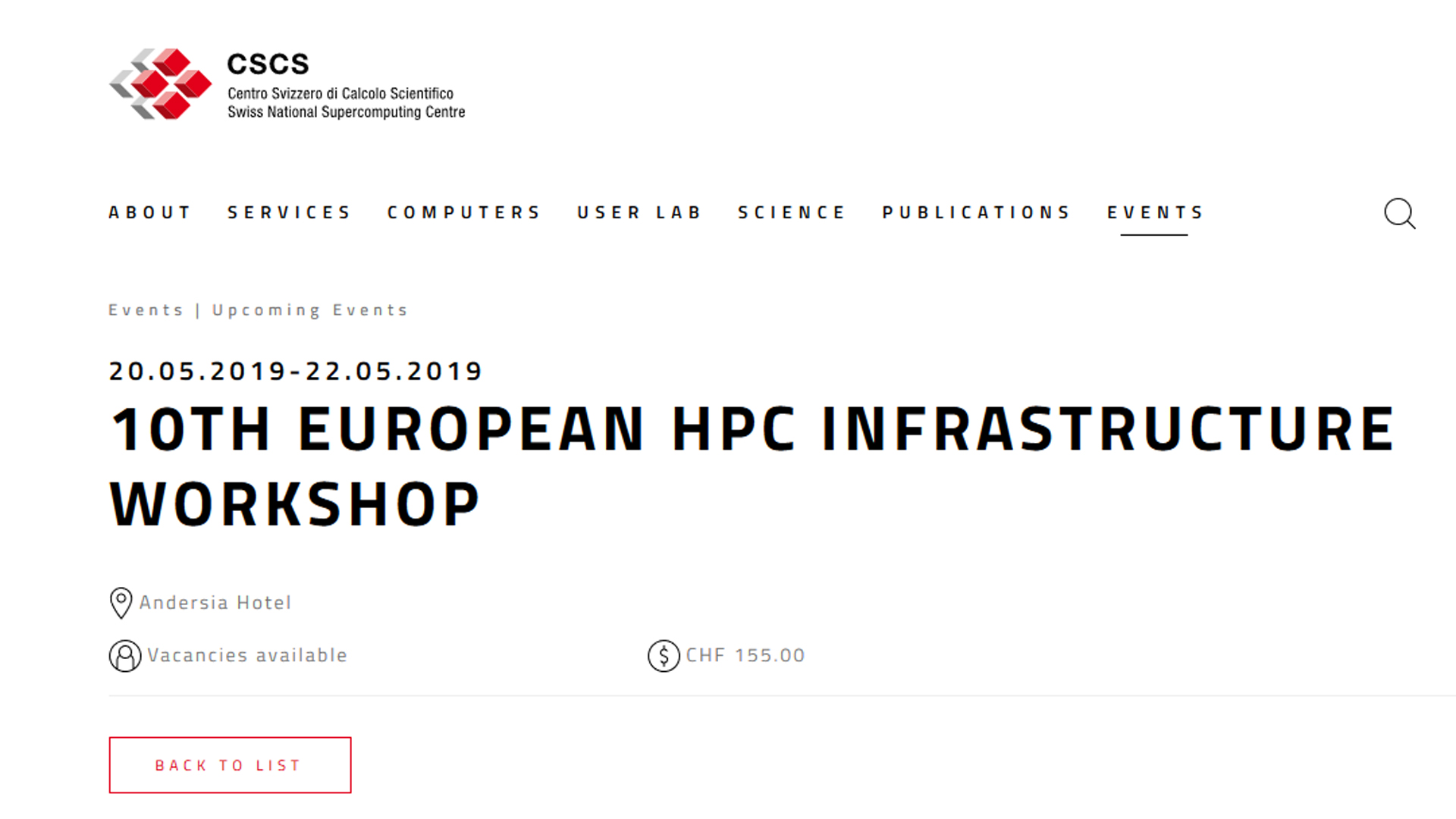 Zapraszamy do rejestracji na 10th European HPC Infrastructure Workshop