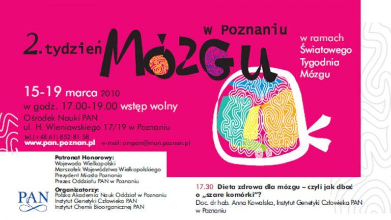 Transmisja na żywo z 2. Tygodnia Mózgu w Poznaniu