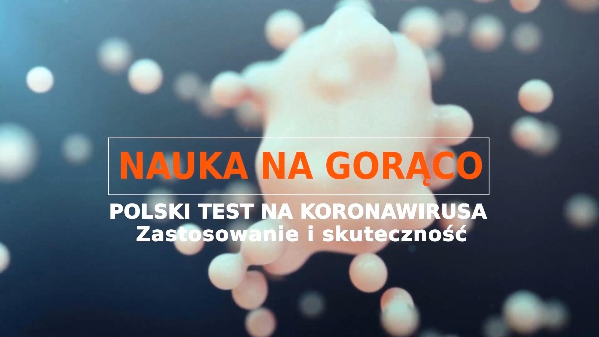 """PIONIER.TV """"Nauka na gorąco: pierwszy polski test na koronawirusa"""""""