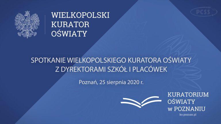 Kolejne webinarium Wielkopolskiego Kuratora Oświaty z dyrektorami szkół