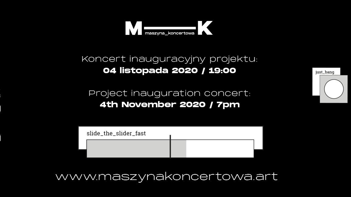 """Inauguracja projektu """"Maszyna koncertowa"""""""