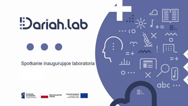 DARIAH.LAB: Spotkanie inaugurujące laboratoria