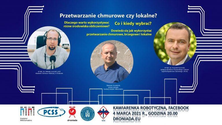 """Dr. Krzysztof Kurowski będzie gościem """"Kawiarenki robotycznej"""""""