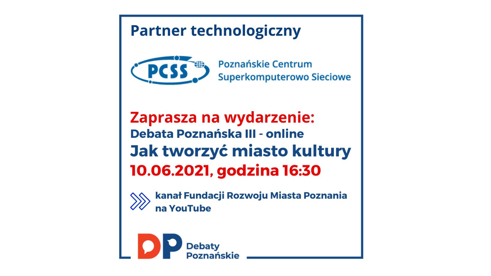 """Zapraszamy na Debatę Poznańską III """"Jak tworzyć miasto kultury"""""""