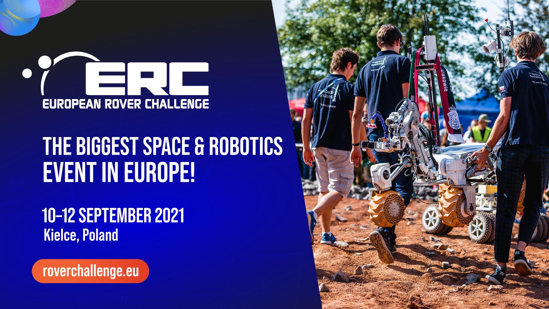 Zapraszamy na ERC 2021 European Rover Challenge wspierane technologicznie przez PCSS
