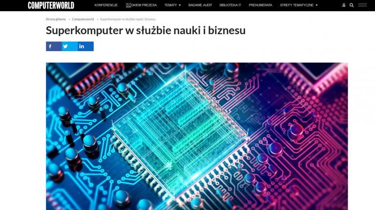 O PCSS, Altair i projekcie PRACE-LAB na łamach tygodnika Computerworld